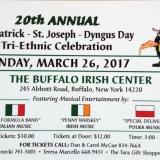 20th Annual St. Patrick – St. Joseph – Dyngus Day Tri-Ethnic Celebration